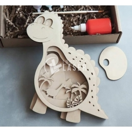 Wooden dino for Laser Cutting