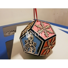 Christmas sphere for Laser Cutting