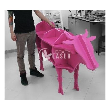 Diseño Mueble en forma de vaca