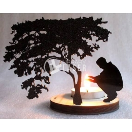 Candelabro en forma de árbol Diseño