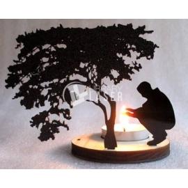 Diseño Candelabro en forma de árbol