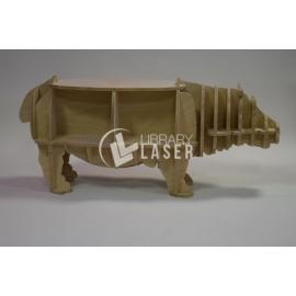 Mueble con forma de hipopótamo Diseño