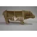 Furniture in the shape of a hippopotamus Design