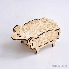 Diseño Caja con forma de oveja