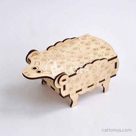 Design Sheep-shaped box