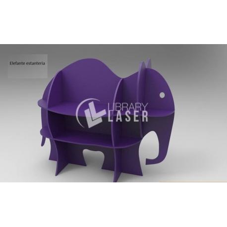 Diseño de mueble con forma de elefante