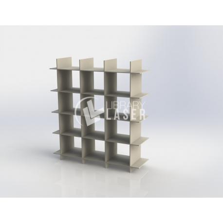 Diseño de mueble en forma de cuadricula