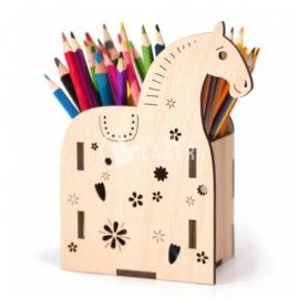 Portalápiz en forma de caballo Diseño