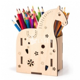 Design of pencil holder in the shape of a horse