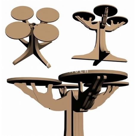 Diseño de mesa en forma de tronco