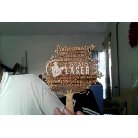 Diseño de árbol con el padre nuestro