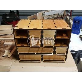 Caja de piezas Diseño