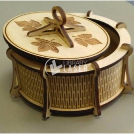 Round box with lid Design