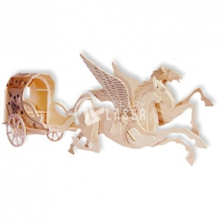 Horse design with cart