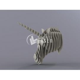 Cabeza de unicornio Diseño
